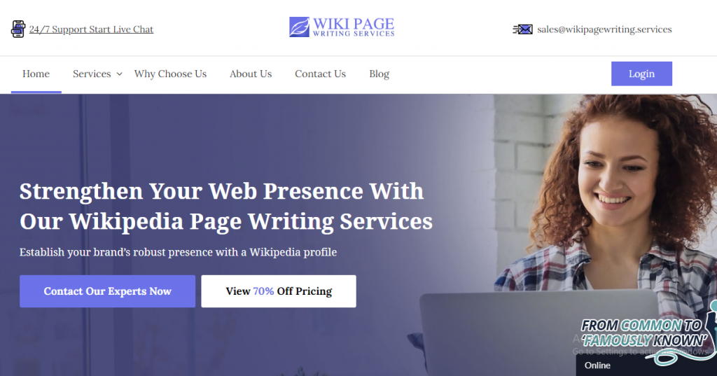 Wiki Page Writing Services