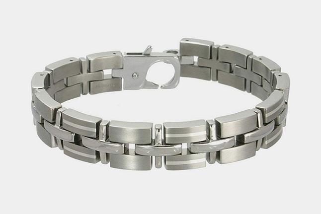 Rising Time Titanium Silver Bracelet