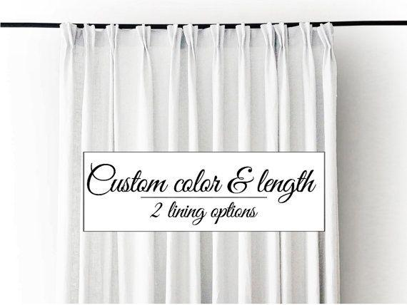 Curtain lining and length