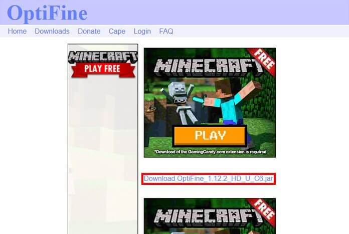Download Optifine