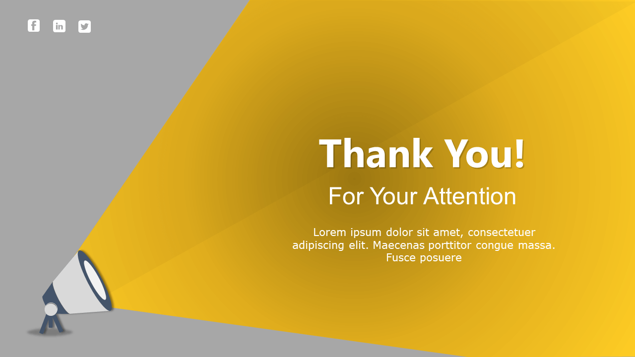 Simple Thank You Slide