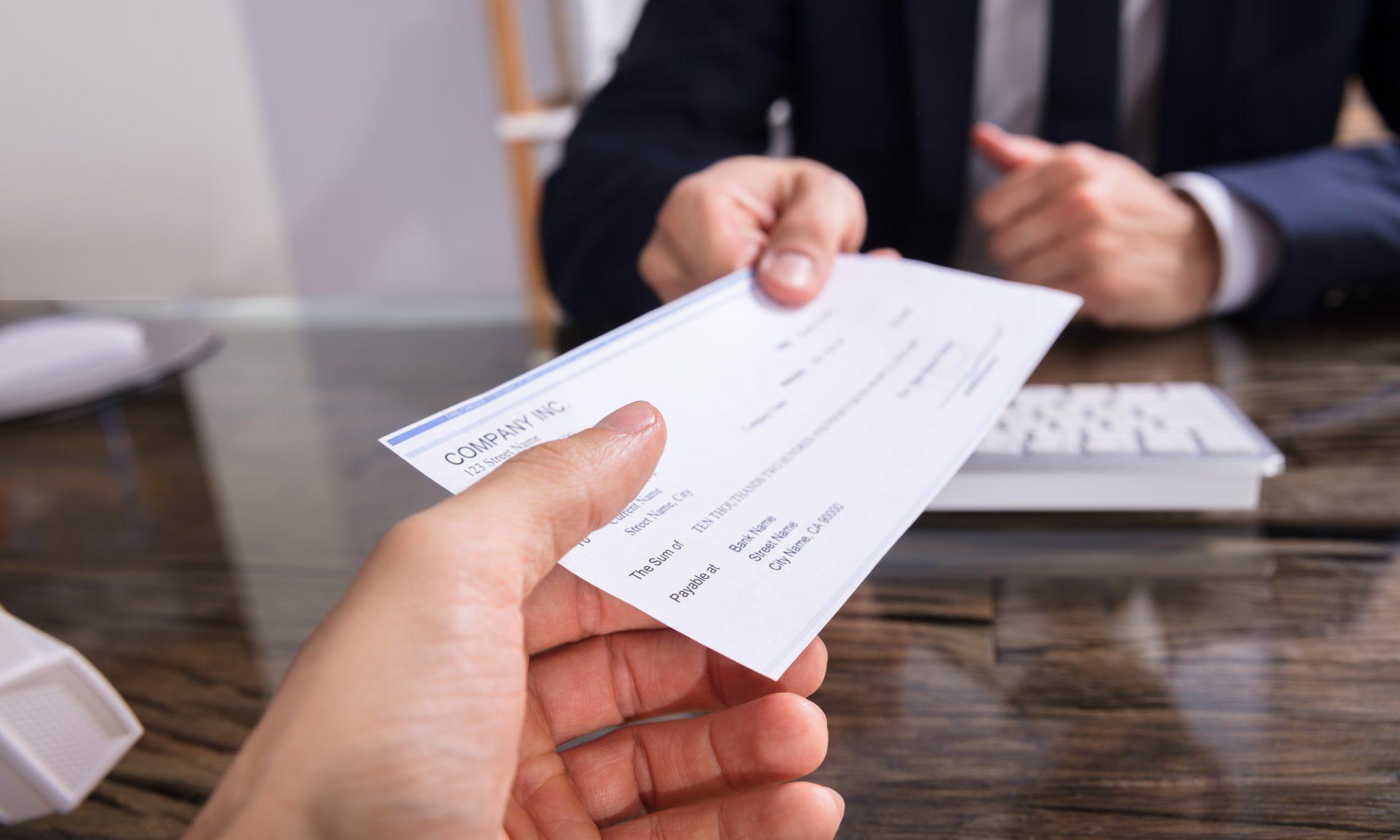 The single check