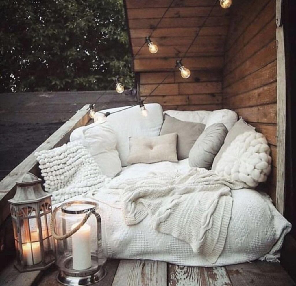 Add Outdoor Lights for a quiet evening